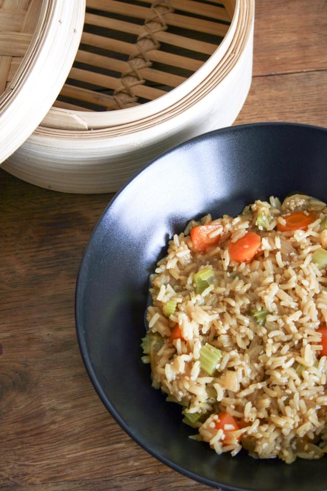 Riz aux légumes inspiration asiatique 2